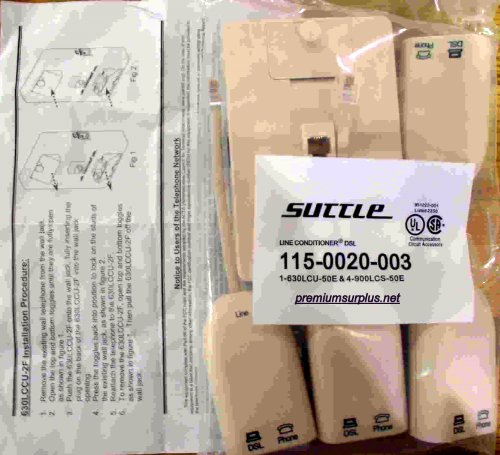 Suttle DSL 5 Piece Kit DSL Filter Phone Line Wall Mount W/instructions