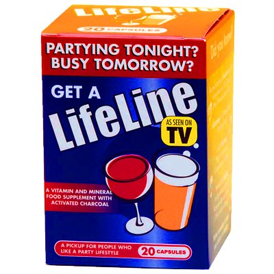 Lifeline HangoverTM Cure - 20 Capsule Hangover Prevention Multipack