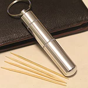 Portable Toothpick Box Stainless Steel Pocket