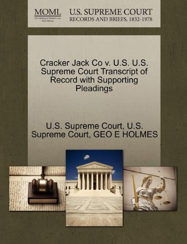 cracker-jack-co-v-us-us-supreme-court-transcript-of-record-with-supporting-pleadings