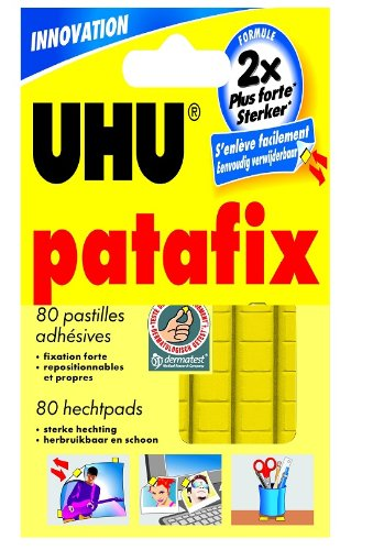Uhu 325906 80 pastilles adhesives de patafix jaune - Stickers muraux decollable ...