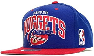 New! Mitchell & Ness NBA Denver Nuggets Blue & Red Two Tone 3D Embroidered... by NBA
