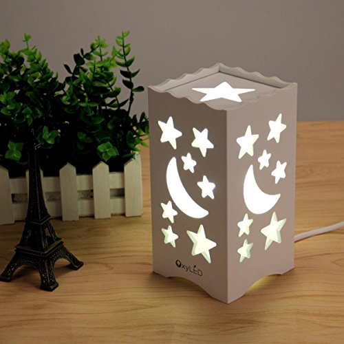 OxyLED-BN20-Table-light-moon-and-star-shaped-carving-warm-white-light-5W-Euro-plug