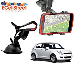 ECellStreet TM Mobile phone soft tube mount holder with suction cup - Multi-angle 360° Degree Rotating Clip Windshield Dashboard Smartphone Car Mount Holder Maruti suzuki S- Cross