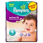 Pampers Active Fit Size 4 (Maxi) Mont...