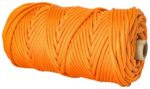 TOUGH-GRID 750lb Neon (Safety) Orange Paracord / Parachute Cord - Genuine Mil Spec Type IV 750lb Paracord Used by the