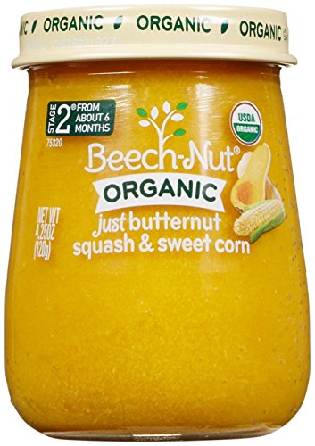 Beech-Nut Just Organic Stage 2 Purees - Just Butternut Squash & Sweet Corn - 4.25 Oz - 10 pk