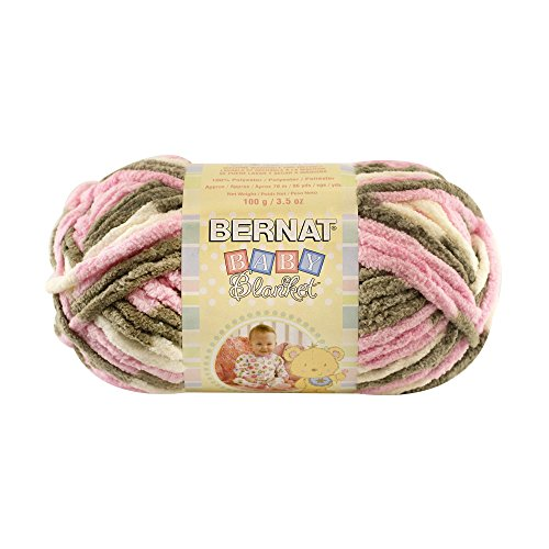 BERNAT Baby Blanket Yarn, Little Petunias