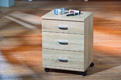 Links 19300090 Capo8/19 Container sur Roulettes 3 Tiroirs Sonoma 42,5 x 37,5 x 57,5 cm
