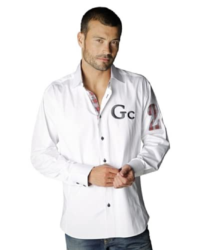 Gazoil Camicia Patch Manica [Bianco]