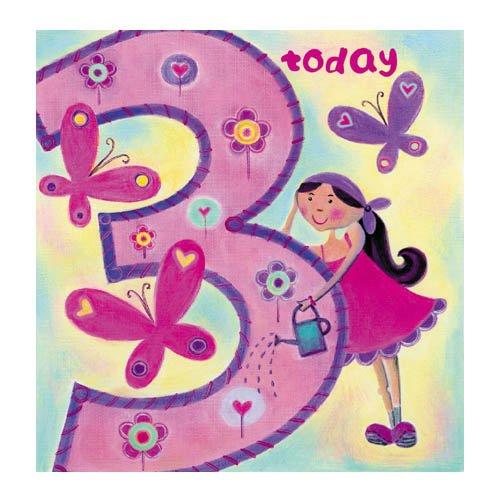 Age 3 Happy 3rd Birthday Card For Girls Birthday Cards