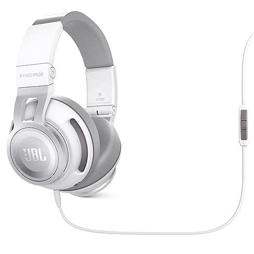 JBL Synchros S500 Casque Audio/Ecouteurs pour Apple/Commande universelle et Micro - Blanc