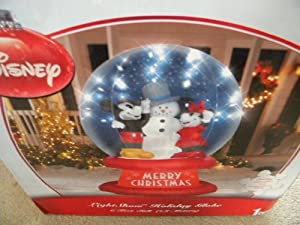 Disney 6 Ft Mickey and Minnie Mouse Christmas Inflatable Globe from Gemmy