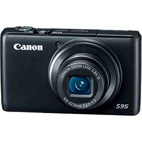 Canon PowerShot S95 10 MP Digital Camera with 3.8x Wide Angle Optical Image Stabilized Zoom and 3.0-Inch inch LCD