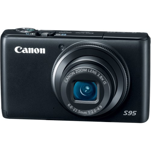 Black Friday Canon PowerShot S95 10 MP Digital Camera with 3.8x Wide Angle Optical Image Stabilized Zoom and 3.0-Inch LCD Deals