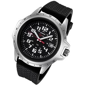 Armourlite ColorBurst Shatterproof Scratch Resistant Glass Tritium Watch 10 yr battery AL215-R