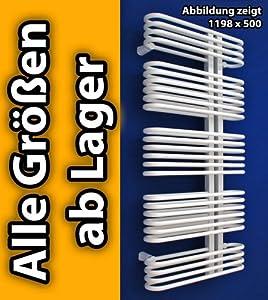 Design Badheizkörper Handtuchwärmer Heizkörper ASTRO weiß alle Größen