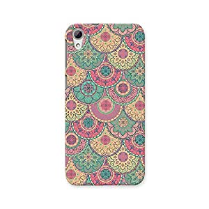 ArtzFolio Pastel Circles : HTC Desire 826 Matte Polycarbonate ORIGINAL BRANDED Mobile Cell Phone Protective BACK CASE COVER Protector : BEST DESIGNER Hard Shockproof Scratch-Proof Accessories