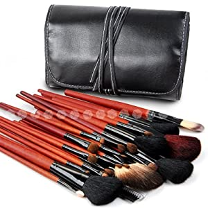 30teilig Kosmetik Make-up Pinsel Brush XL Set mit schwarz Etui