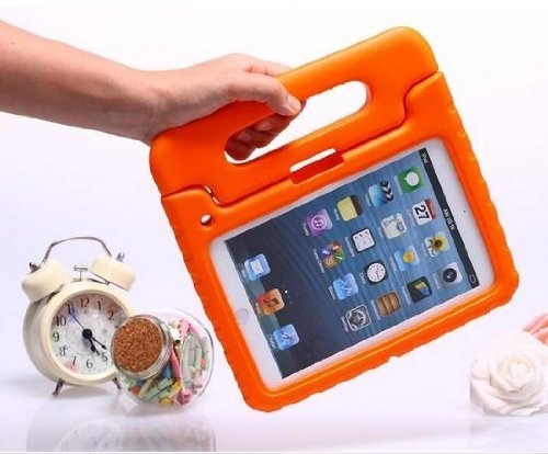 Carry360 Kids Safe Shock Proof Thick Foam Case Handle Stand For Ipad 2/3/4 With Handle(Color Orange)