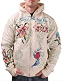 Ed Hardy Christian Audigier Platinum Tiger Mens Hoodie Sz 2XL