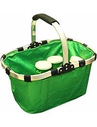 Folding Basket Shopping Picnic Vegetable Fruit Bag(Color : Random)
