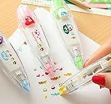 (ココ)COCO 文具 ボールペン クリック タイプ シール テープ フラワー キューティー ガール デコレーション シール お楽しみカラー