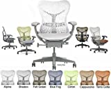 Mirra Chair Herman Miller Deluxe Fully Highly Adjustable Home Office Desk Task Chair MR223 with Forward Tilt Seat Angle, Adjustable Arms, Flexfront Seat, Shadow Frame with Alpine Airweave Seat and Triflex Backrest, H9 Soft Clear Translucent Hard Floor Casters