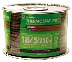 thermostat wire diagram southwire 64169644 18/5 250-feet 5 conductor thermostat ... #2