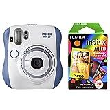 Fujfilm Instax Mini 26 + Rainbow Film Bundle - Blue/White