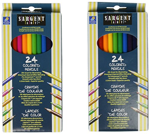 2 X Sargent Art 22-7224 24-Count Assorted Colored Pencils