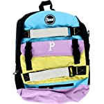 Penny Backpack Pastel Blue Lilac Yellow Skate Backpacks by Penny