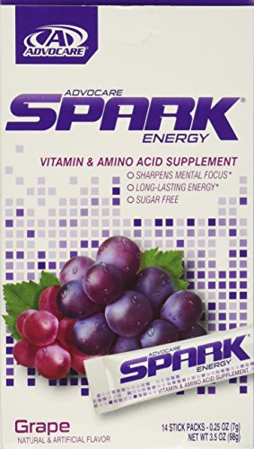 Advocare Spark Energy Drink 14 single serve pouches - Grape - 3.5oz (Grape Spark Advocare compare prices)