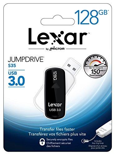 Lexar JumpDrive S35 - Memoria USB 3.0 de 128 GB
