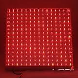 LEDwholesalers 2501RD Red 225 LED 13.8 Watt Square Grow Light Panel 110 Volt