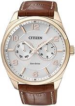 Comprar Citizen  0 - Reloj de cuarzo para hombre, con correa de cuero, color marrón