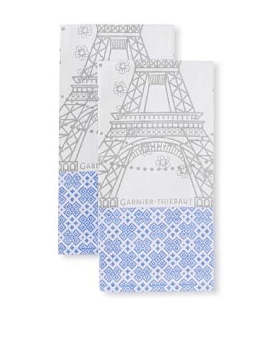 Garnier-Thiebaut Set of 2 Tour Eiffel Kitchen Towels, Fer