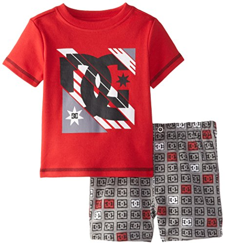 DC Shoes Co Baby Boys' Red Tee with DC Print Shorts