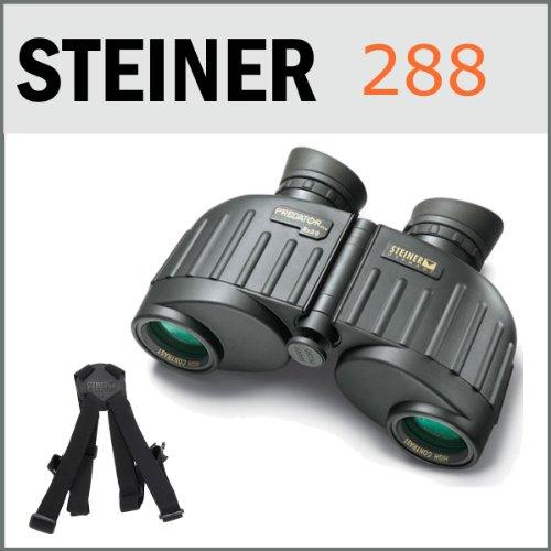 Steiner 288 8X30 Predator Pro Green Rubber Armoured Binoculars Usa + Clic-Loc Harness For Porro Prism Binoculars