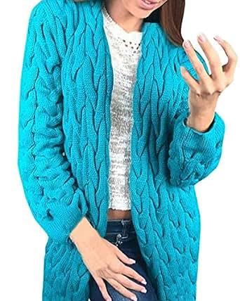 zanzea femmes hiver chaud sweater gilet tricot manches longues cardigan veste manteau blazer. Black Bedroom Furniture Sets. Home Design Ideas