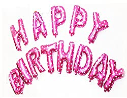 Balloon Junction PINK - HAPPY BIRTHDAY Letter Foil Balloons - Set of 13 Letters