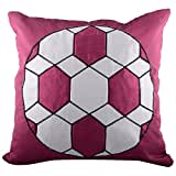 Aaiye Ghar Sajaiye Raw Silk Cushion Cover With Football Design- Set Of 5, Multi _(16 X 16 Inch)