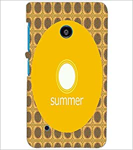 PrintDhaba Designer image D-4001 Back Case Cover for NOKIA LUMIA 530 (Multi-Coloured)