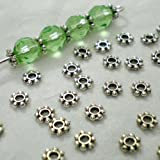200pcs Tibetan Silver Daisy Spacer Metal Beads 4mm ~Jewelry Making~