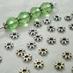 200pcs Tibetan Silver Daisy Spacer Me...
