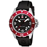 Men's Wenger 72233 AquaGraph 1000m Diver's Watch with Rubber Strap Band