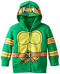Teenage Mutant Ninja Turtles Toddler Boys\' Character Hoodie, Green, 4T