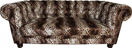 Casa Padrino Limited Edition Designer Chesterfield Sofa Leopard - Club Möbel