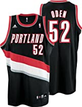 NBA Portland Trail Blazers #52 Greg Oden Black Jersey, Adidas (3X-Large)