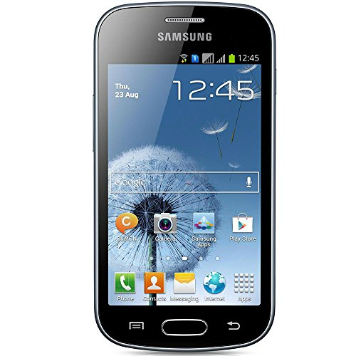 "Samsung Galaxy Duos Trend S7562C Android Smartphone (GSM Factory Unlocked) – Dual SIM, 4"" Screen, 3G 900/2100 MHz, 3MP Camera – Black"
